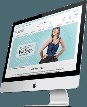 site commerce sur ordinateur