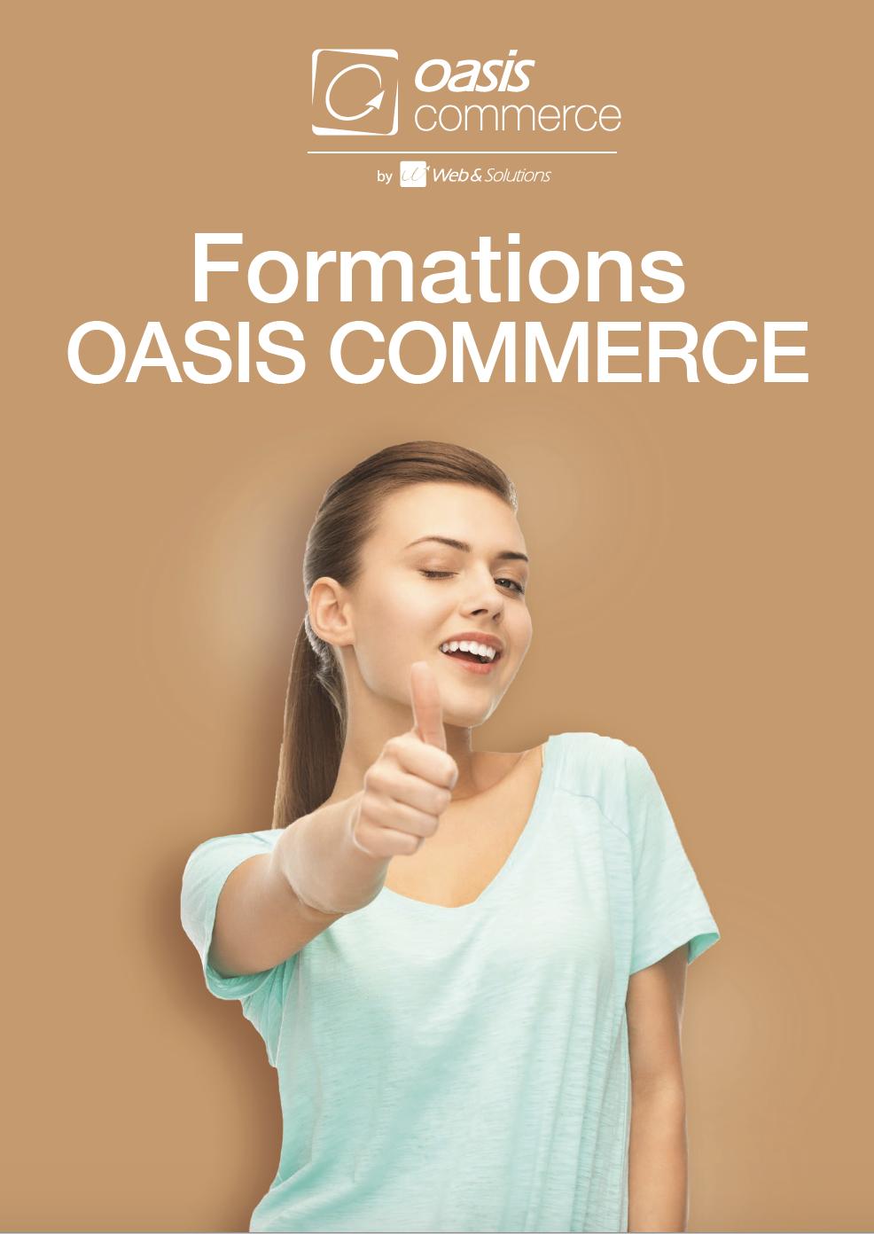 Plaquette des formation OASIS Commerce