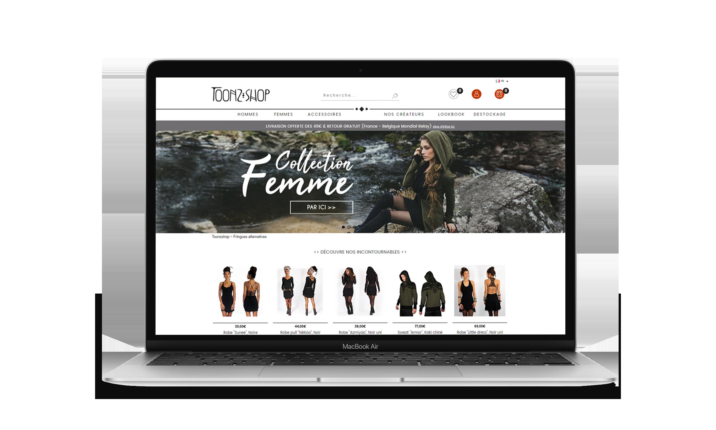 site-ecommerce-toonzshop