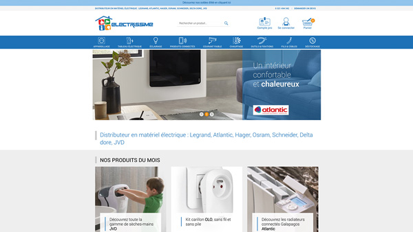 electrissime site ecommerce