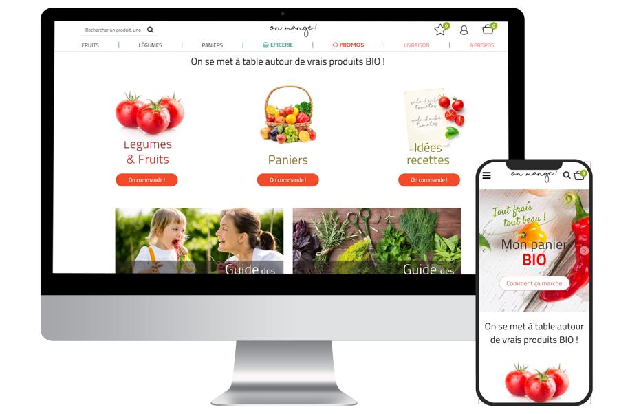 Boutique en ligne accessible sur tous les appareils